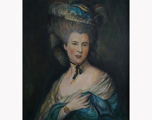 Portret kobiety w błękicie wg Thomasa Gainsborough